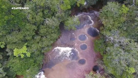 Água mole, pedra dura... Veja o que levou à formação dos buracos da Cachoeira do Mutum