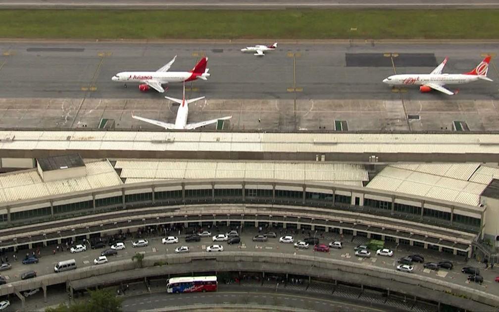 Aeroporto de Congonhas — Foto: TV Globo/Reprodução