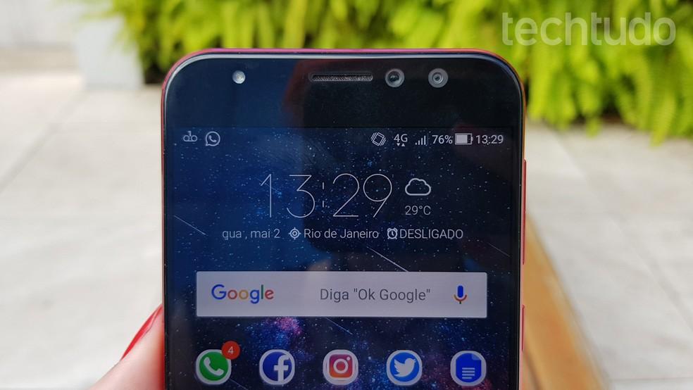 65e736ad0 ... Zenfone 4 Selfie Pro tem câmera frontal dupla — Foto  Ana  Marques TechTudo