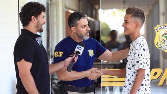 Marcos Prata, ex-The Voice Kids, conhece sede da PRF e alimenta um sonho de infância. Confira!