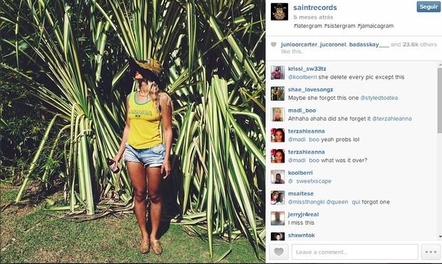 Única foto de Beyoncé que Solange não deletou (Foto: Reprodução/Instagram)