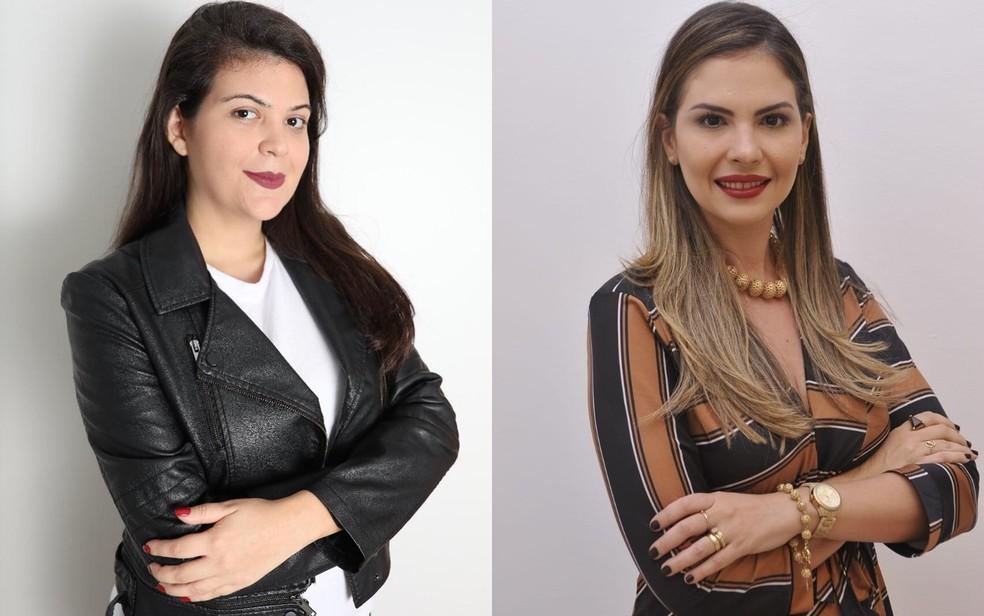 A socióloga Aava Santiago e a defensora pública Gabriela Hamdan partipam do seminário em Goiânia — Foto: Fernando Diniz/Divulgação