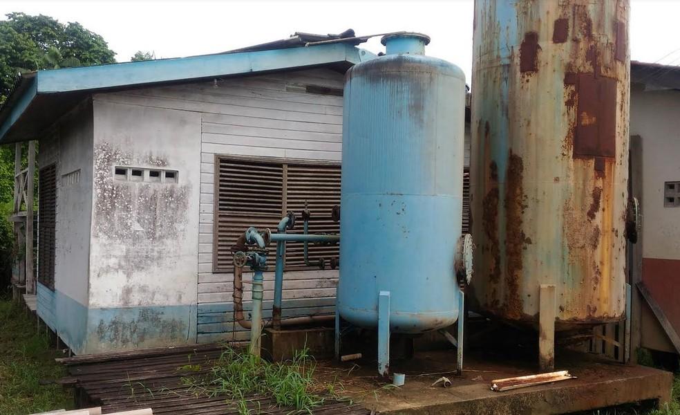 Fenômeno tem prejudicado o fornecimento de água tratada no Bailique (Foto: Divulgação/Defesa Civil)