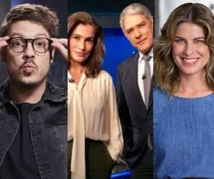 """Em 2020, o jornalismo trabalhou mais do que nunca e cumpriu um papel histórico. Boas entrevistas, """"Big Brother"""" e muita receita estiveram entre os destaques.    TV Globo"""