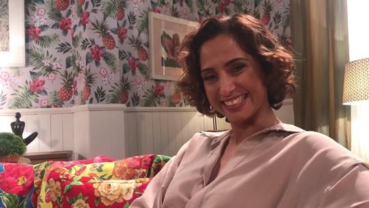 Camila Pitanga fala das surpresas no palco do 'Adnight Show': 'Eu espero que não tenha muita pegadinha'