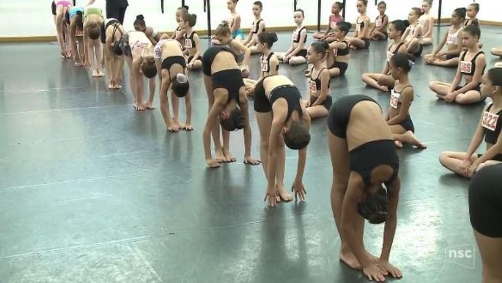 Mais de 500 crianças participaram de testes entre sexta (20) e domingo (22) (Foto: Reprodução/NSC TV)