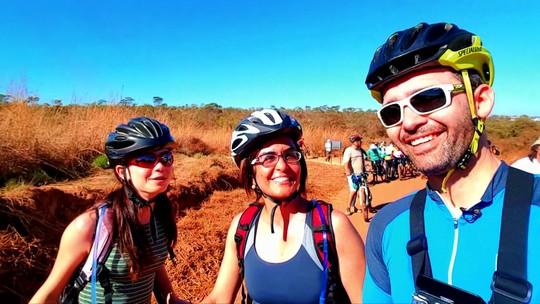 Projeto Pedalando mostra trilha de mountain bike em Brasília