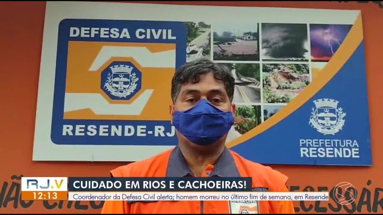 Coordenador da Defesa Civil de Resende faz alerta para acidentes em cachoeiras e rios