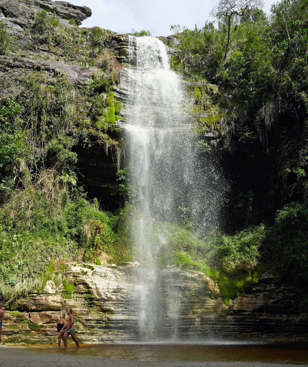 Parque Estadual do Ibitipoca - Cachoeirinha, um dos atrativos no circuito Janela do Céu — Foto: Dimas Stephan/G1
