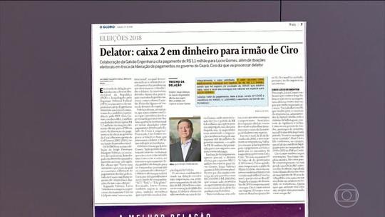 Delator aponta caixa 2 para irmão de Ciro Gomes