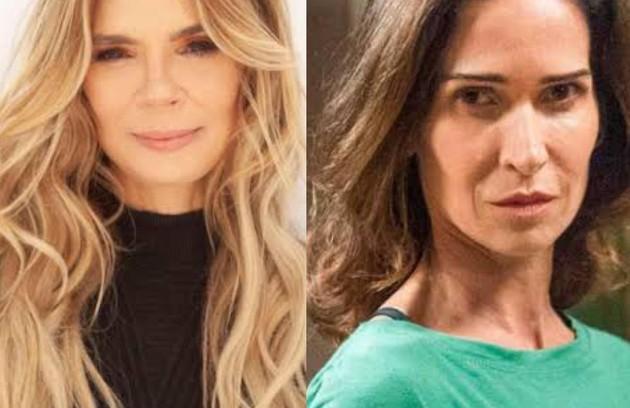 Alexia Deschamps e Ingra Liberato também apareceram fazendo figuração na história, como modelos (Foto: Divulgação)