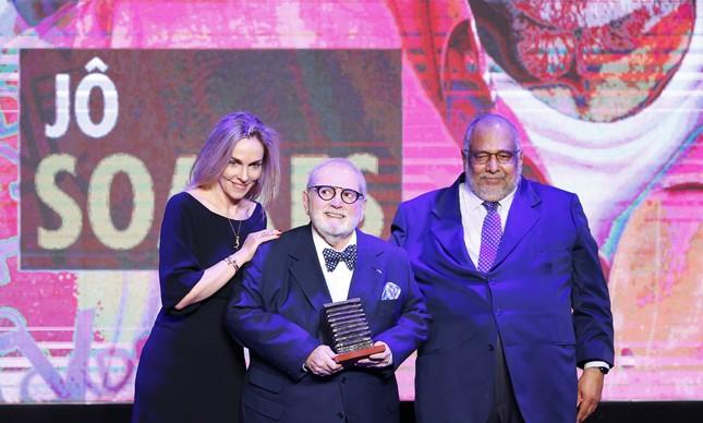 Patricia Kogut, Jô Soares e Jorge Bastos Moreno