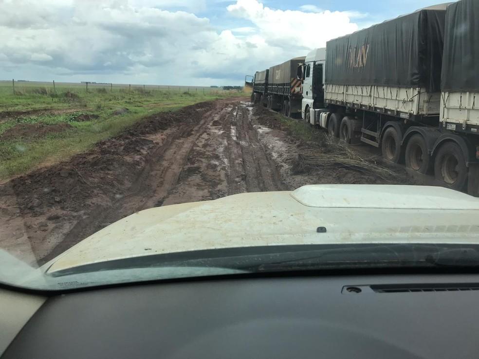 Rodovia é a principal via de escoamento da produção agrícola piauiense — Foto: Antônio Chies