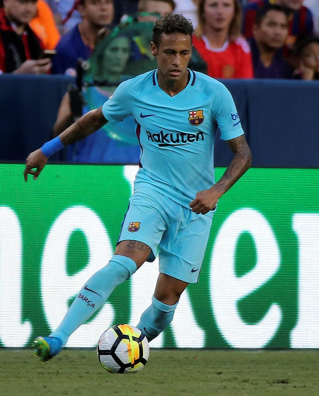 Neymar fez todos os três gols do Barcelona na pré-temporada até aqui (Foto: Reuters)