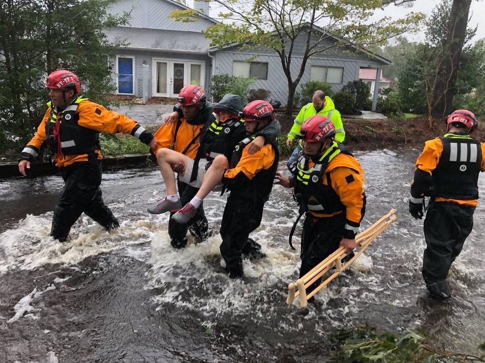 Furacão Florence — Foto: NYC Emergency Management/Handout via REUTERS