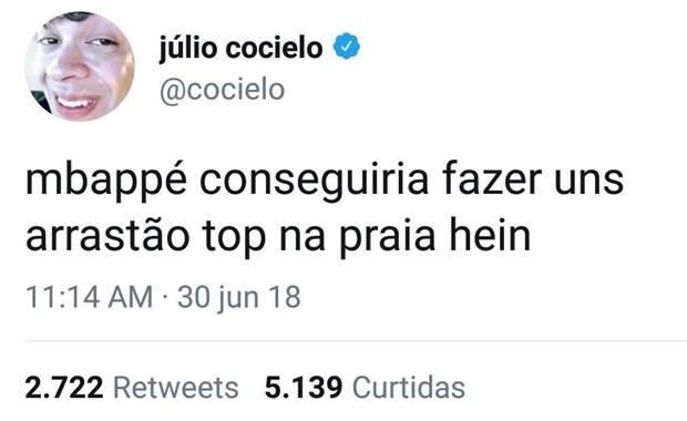 Post de Júlio Cocielo (Foto: Reprodução/Twitter)