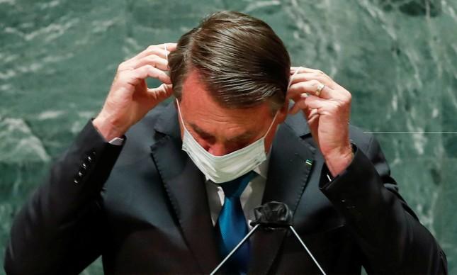 Jair Bolsonaro na abertura da 76ª Assembleia Geral da ONU