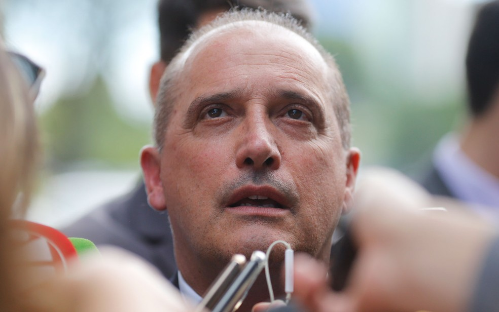 O ministro da Casa Civil, Onyx Lorenzoni, é suspeito de ter recebido caixa 2 do grupo J&F — Foto: Dida Sampaio/Estadão Conteúdo