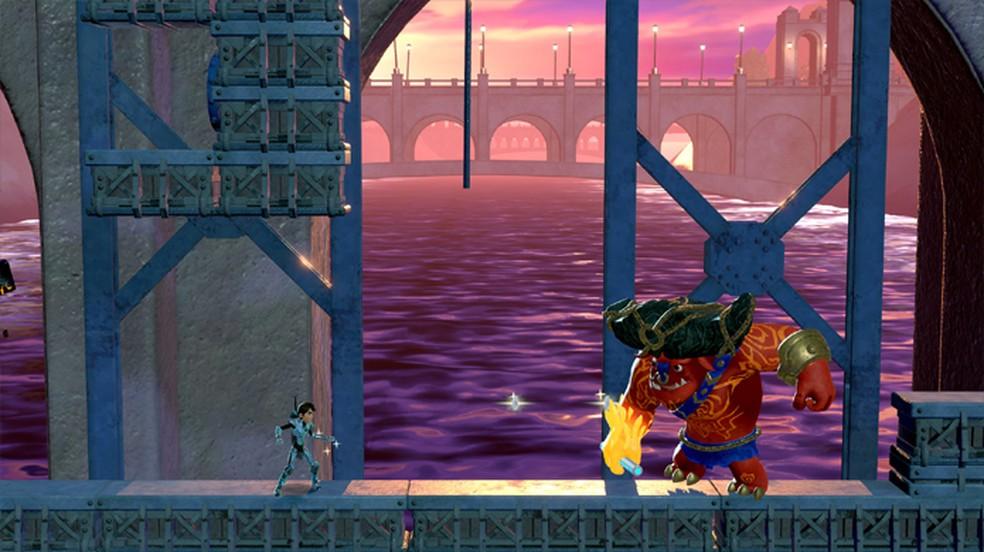 Game baseado na animação Caçadores de Troll traz jogabilidade clássica com visuais modernos — Foto: Reprodução/Steam