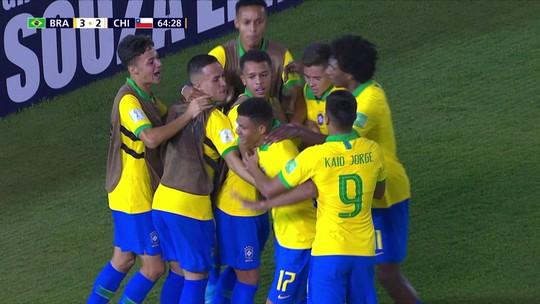 """Sem Talles Magno, Kaio Jorge se diz preparado para ser referência do Brasil sub-17: """"Estou tranquilo"""""""
