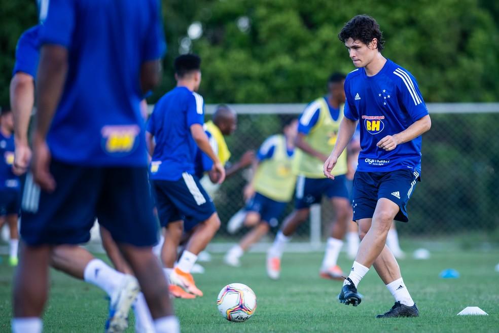 Dodô durante treino do Cruzeiro, 06/01/2020 — Foto: Bruno Haddad/Cruzeiro