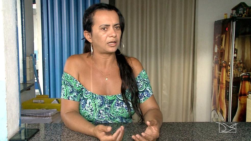 Comerciante Andreia Barreiro também registrou uma denúncia contra o Samu no Ministério Público — Foto: Reprodução/TV Mirante