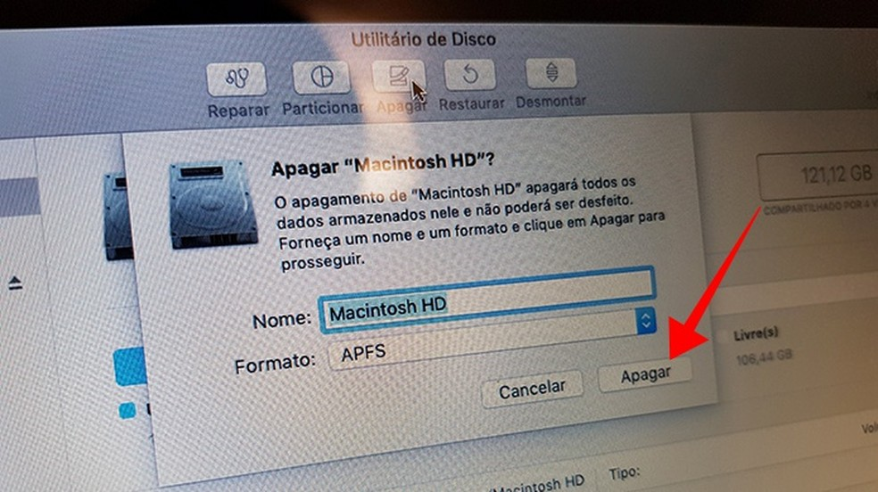 Confirme a formatação do HD — Foto: Reprodução/Paulo Alves