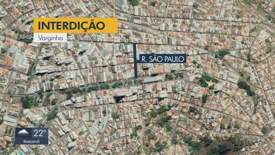 Trânsito é interditado em ruas de Varginha e Pouso Alegre