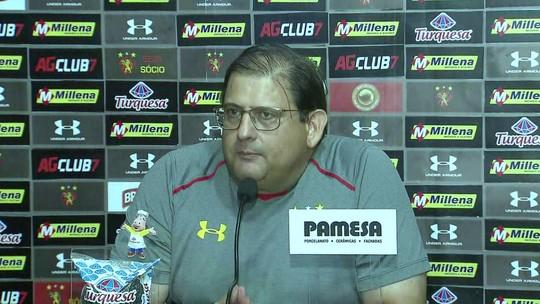Entrevista coletiva de Guto Ferreira no Sport