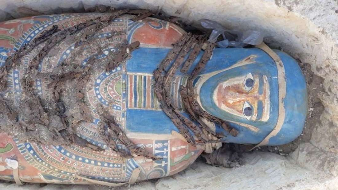 Uma das oito tumbas encontradas na necrópole de Daishur (Foto: Egyptian Ministry of Antiquities)