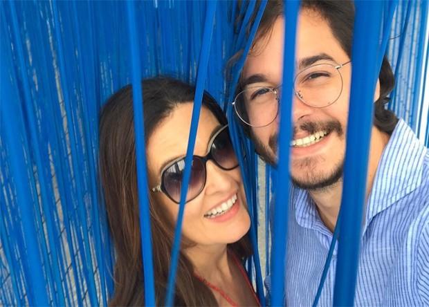 Fátima Bernardes e Túlio Gadêlho (Foto: Reprodução / Instagram)