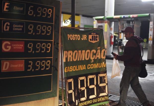 População faz fila nos postos de Brasília; combustível começa a faltar - diesel - gasolina - petróleo (Foto: Marcello Casal Jr/Agência Brasil)