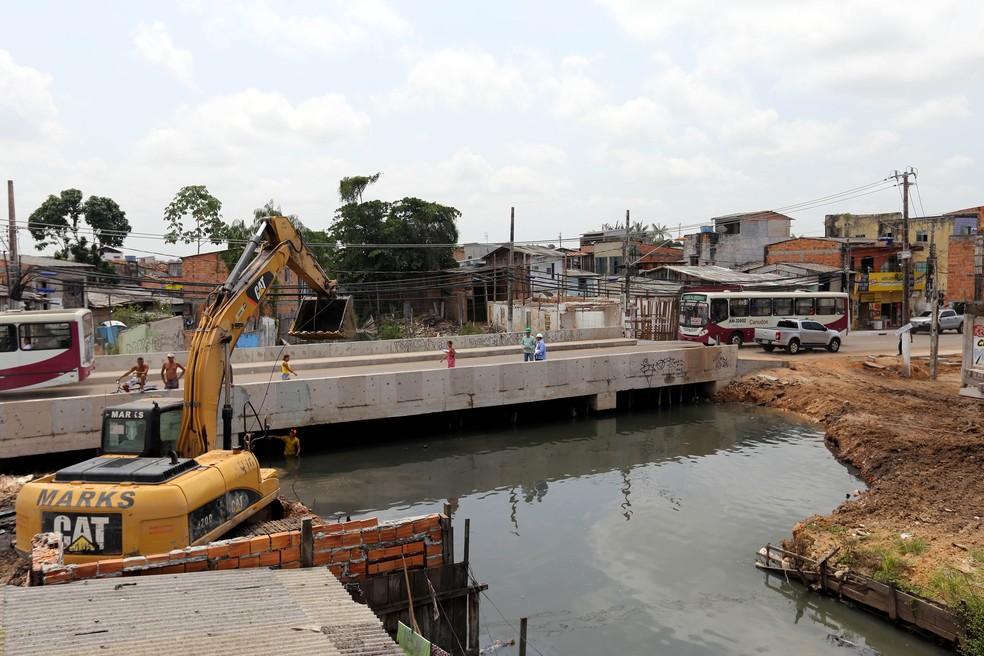 Tucunduba passou por obras emergenciais em agosto. Terceira etapa do projeto iniciou em 2017 (Foto: Sidney Oliveira / Agência Pará)