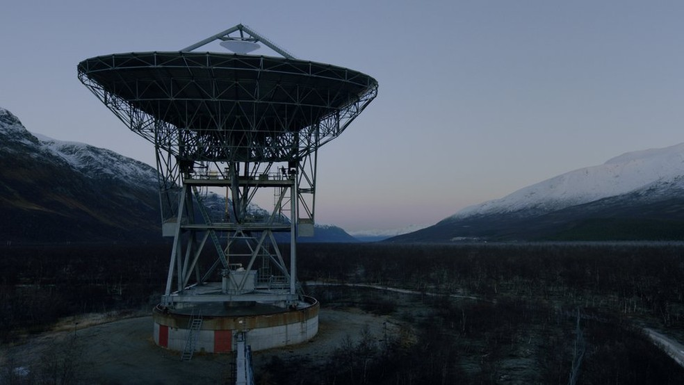A mensagem foi enviada de uma antena que fica na Noruega (Foto: Meti)