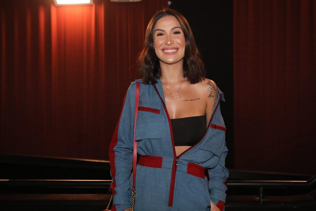 Bianca Andrade, blogueira do canal 'Boca Rosa', em lançamento de DVD de Ludmilla em São Paulo — Foto: Celso Tavares/G1