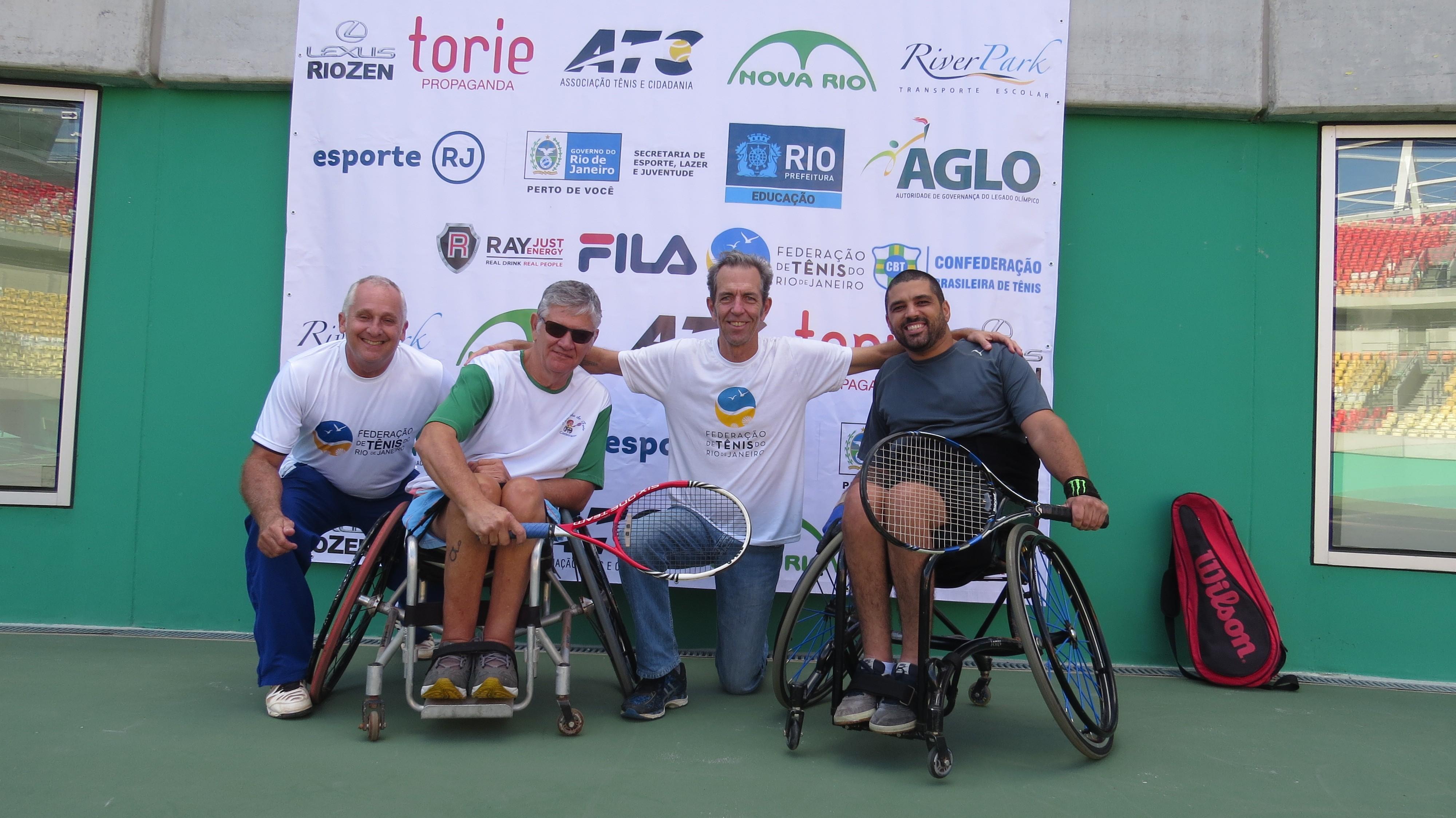 Alexandre Katz, diretor técnico da Fterj, Paulo Emílio, Renato Cito, presidente da entidade, e Vinicius Pontes
