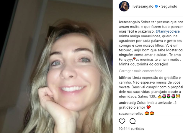 Amiga de Ivete Sangalo, que recebeu elogios em postagem da cantora (Foto: Reprodução Instagram)