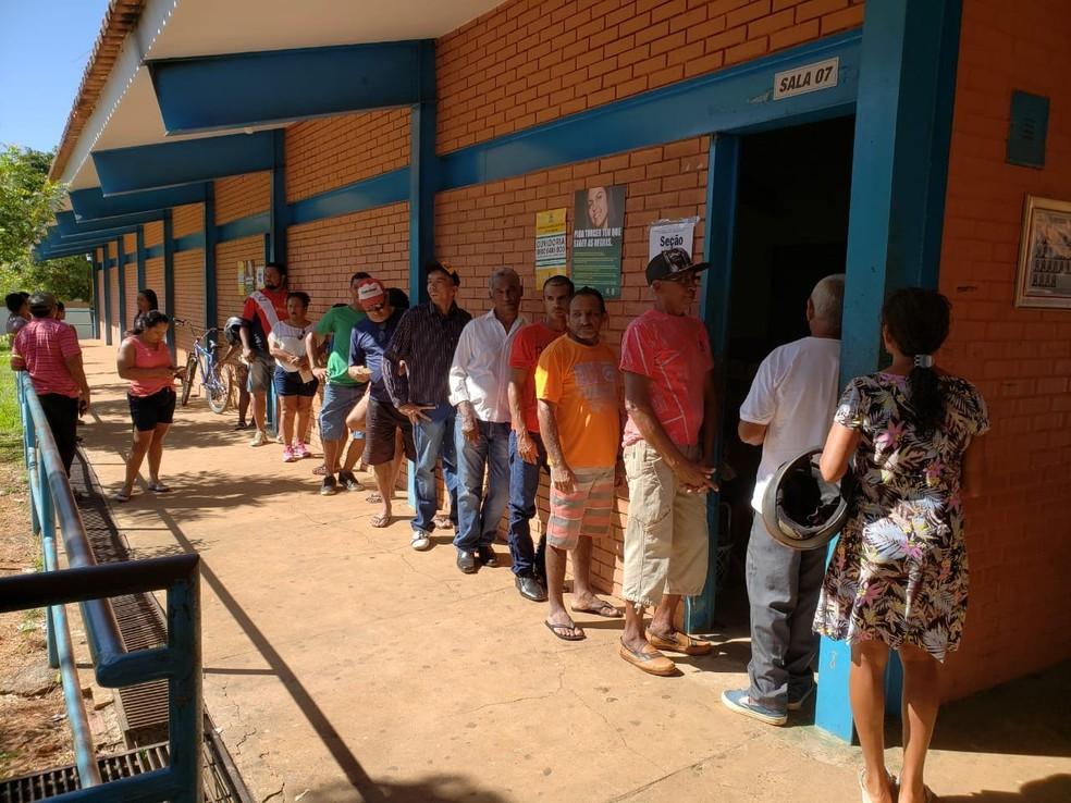 Eleitores foram às urnas neste domingo (3) no Tocantins (Foto: Dirceu Leno/Divulgação)