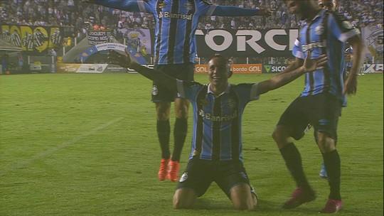 Assista aos três gols do Grêmio sobre o Santos em plena Vila Belmiro
