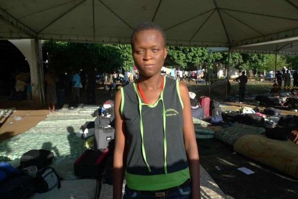 Nadine passou três meses em abrigo superlotado de imigrantes no Acre logo após chegar ao Brasil, em 2013 — Foto: BBC