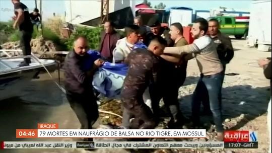 Naufrágio de balsa no Iraque deixa 79 mortos