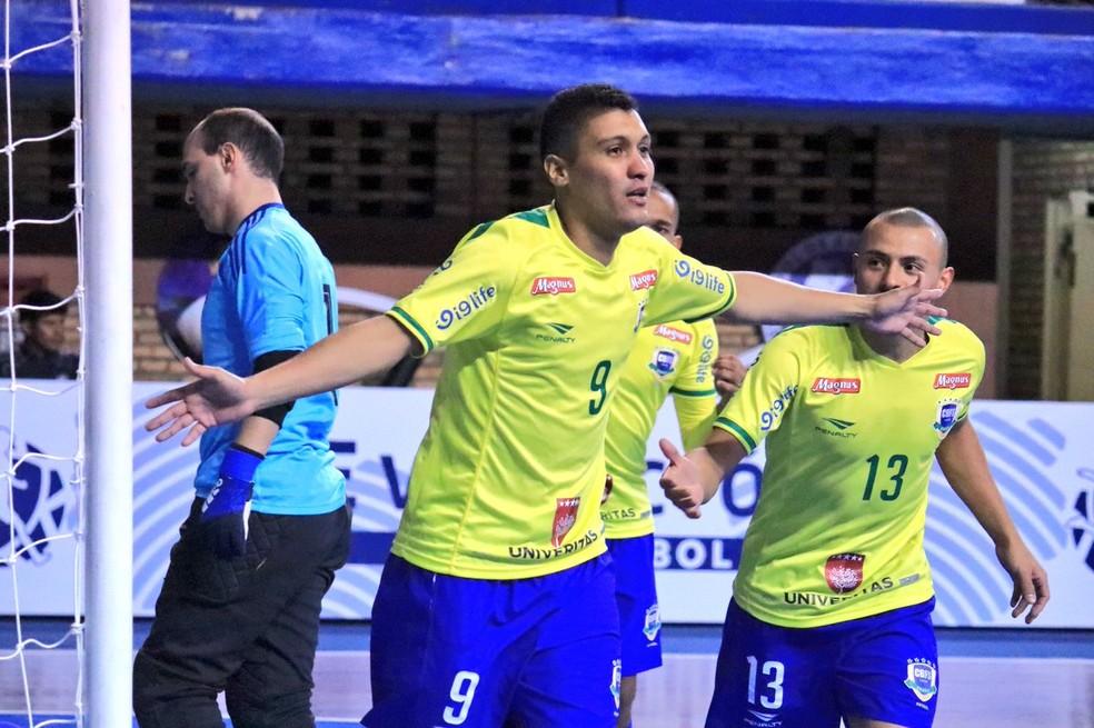 Sol Sales marcou o gol de honra do Brasil (Foto: Divulgação/APF)