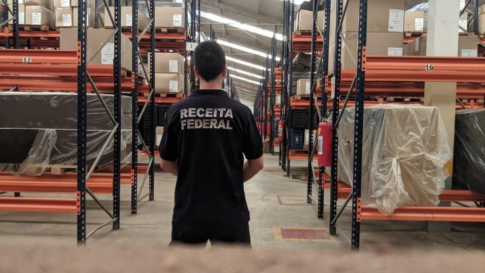 Centro de distribuição em Bauru foi alvo de operação semelhante há dois meses — Foto: Receita Federal/Divulgação