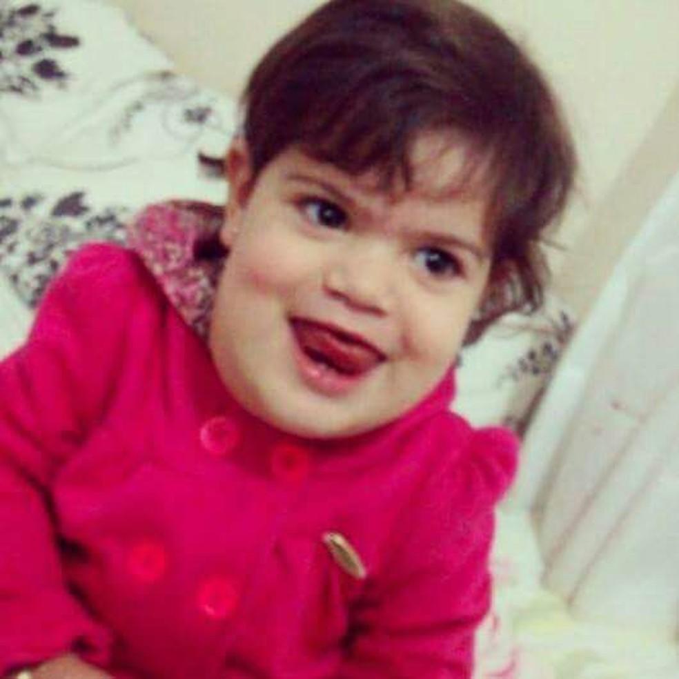 Maria Fernanda foi diagnosticada com linfangioma aos seis meses de idade (Foto: Arquivo pessoal)