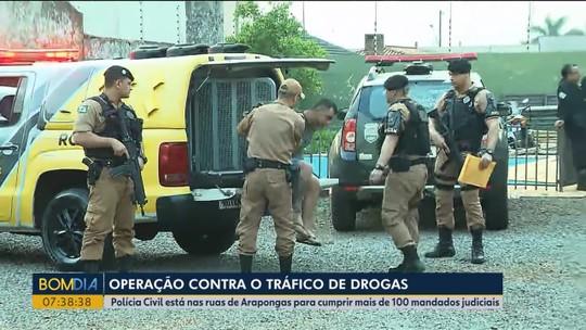 Operação contra o tráfico de drogas no norte do Paraná tem 53 alvos de prisão