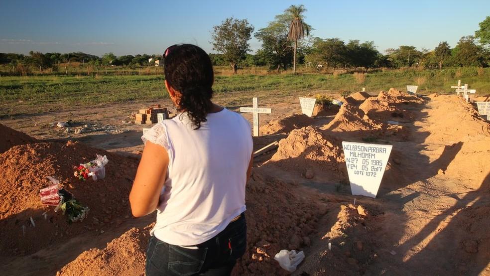 Cemitério de vítimas da chacina de Pau D'Arco, no Pará — Foto: Mario Campagnani/Justiça Global/Divulgação