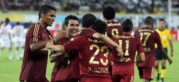 Jopgadores gol Fluminense Rafael Sobis Deco (Foto: Nelson Perez / Fluminense F.C.)