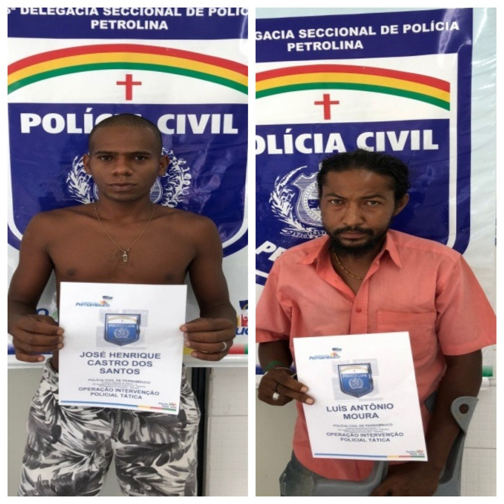 José Henrique de Castro e Luiz Antonio Moura são suspeitos de violentar e matar a adolescente Estéfany Eduarda — Foto: Polícia Civil