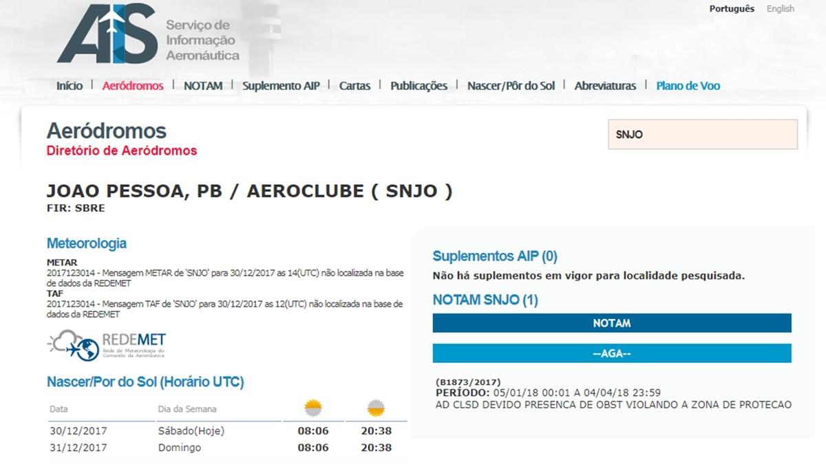 Aeronáutica notifica interdição do Aeroclube da Paraíba por três meses