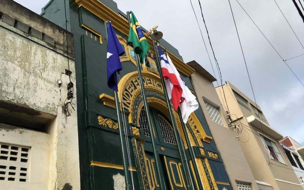 Pavilhão Dois de Julho na Lapinha, em Salvador — Foto: Alan Oliveira/G1